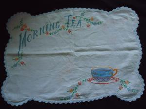 1940s tea cloth