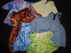 Examples of home-made dolls clothes